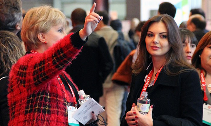NRF2014 Woman in crowd