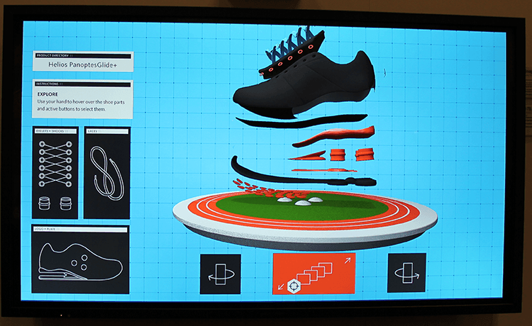 Touchscreen shoe