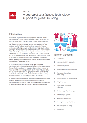 Infor global sourcing cover