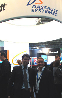 Mark with Jerome at the Dassault Systemes stand