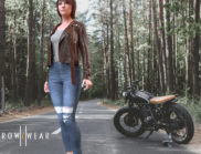 BW outfit motorbike